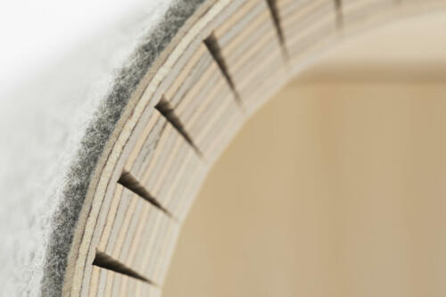 1001001002 stadig stubenhocker hell grau design holzhocker filzhocker gemütlich bequem gepolstert stapelbar Bild 3