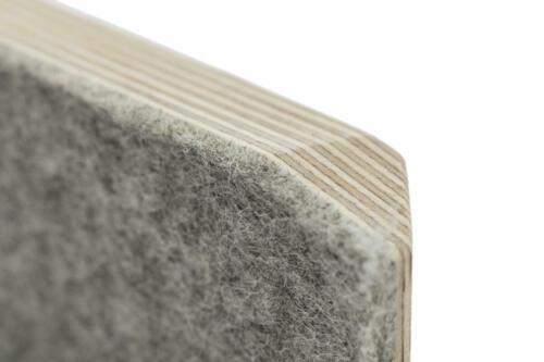 1001001002 stadig stubenhocker hell grau design holzhocker filzhocker gemütlich bequem gepolstert stapelbar Bild 5