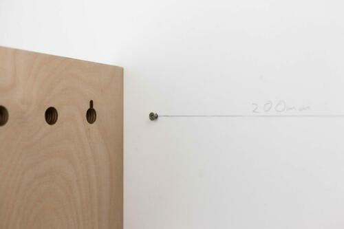 3002001001 STADIG anziehend magnet schlüsselbrett linoleum magnetisch pastelltürkis 3300_2200 Bild5