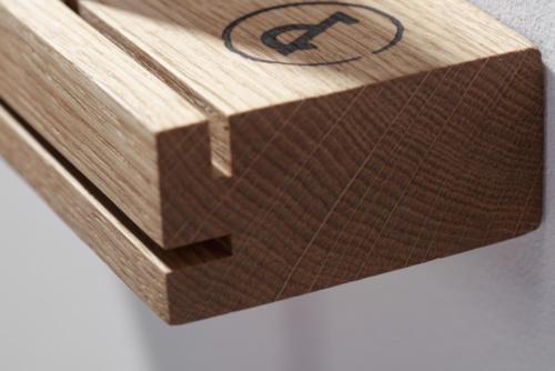 weld & co - Eiche - Schlüsselbrett 01 - SchBE01 - Detail 02